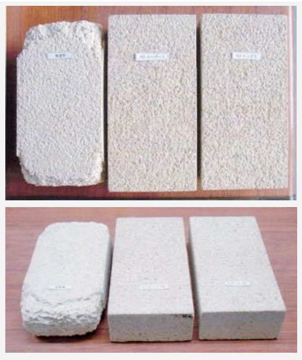 凍結融解テスト(耐凍害)・擬石